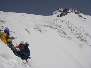登攀終了地点から中岳