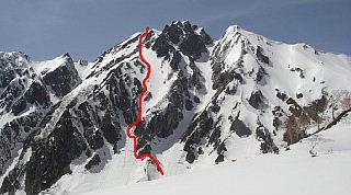 登攀ルート