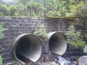 この林道の橋が出てきたら間違い