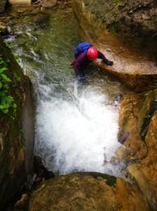 小滝に取り付く