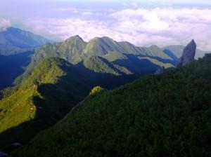 蕎麦粒岳方面を俯瞰