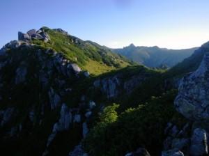 三ノ沢岳と宝剣岳