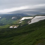 雲に覆われる高根ヶ原