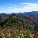 佐武流南方より2,107m峰、赤土居山、白砂山