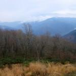 松木登山口より南の山々