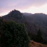 1,553m峰手前より朝の扇山