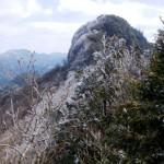 鷹ノ巣山と左に犬ヶ岳方面を望む