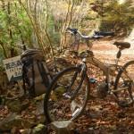 自転車を南川林道へ回送