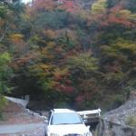 車を日和田に駐車
