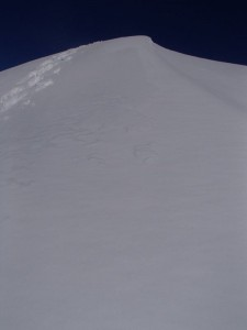眩しい白い峰